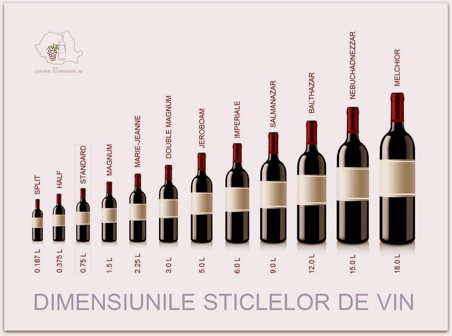 Dimension Bouteille de Vin